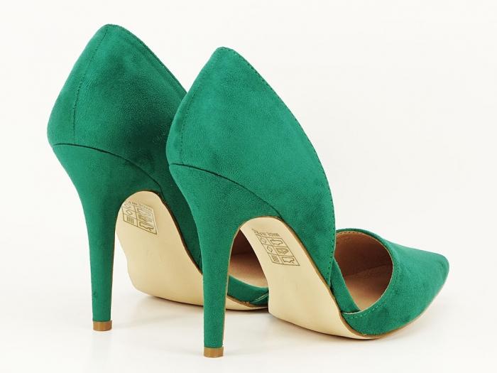 Pantofi dama verzi decupati lateral Antonia 3