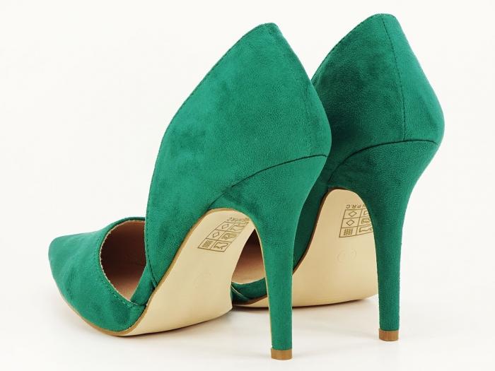 Pantofi dama verzi decupati lateral Antonia 5