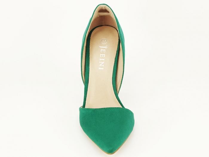 Pantofi dama verzi decupati lateral Antonia 6
