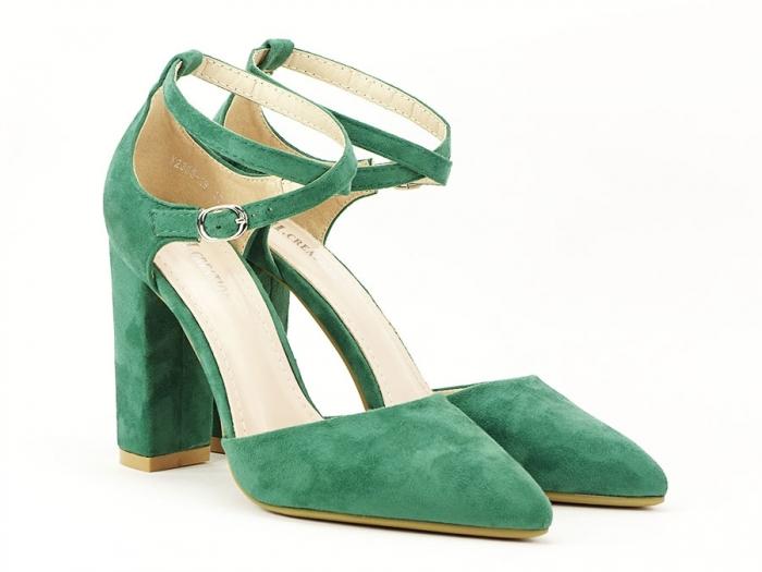 Pantofi verzi decupati Amedeia 1
