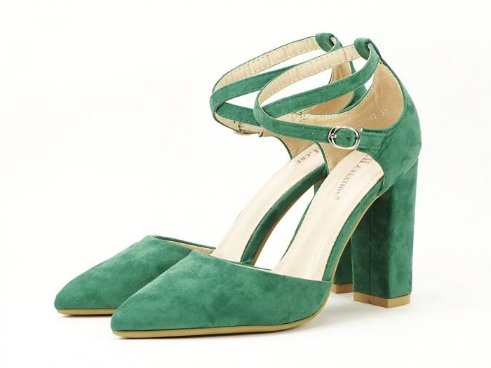 Pantofi verzi decupati Amedeia 0
