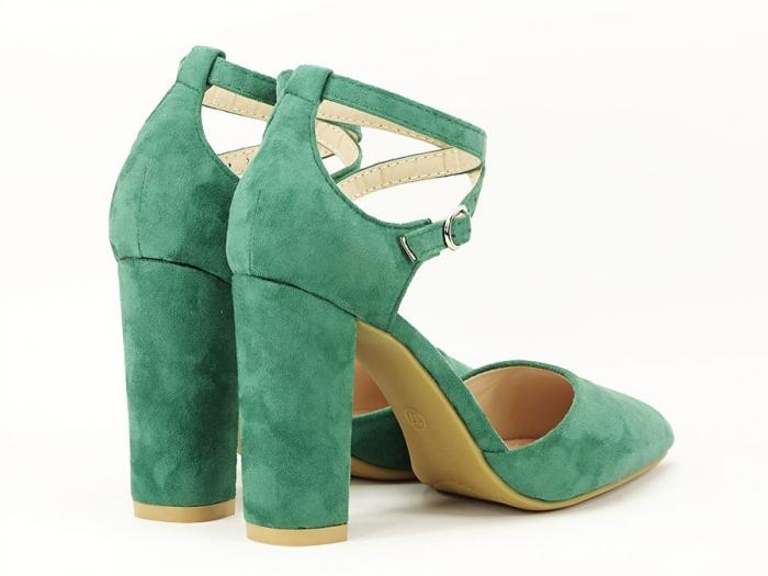 Pantofi verzi decupati Amedeia 7