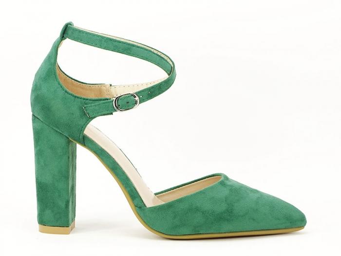 Pantofi verzi decupati Amedeia 2