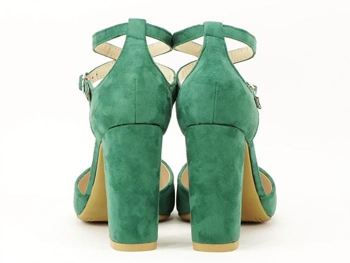 Pantofi verzi decupati Amedeia 5