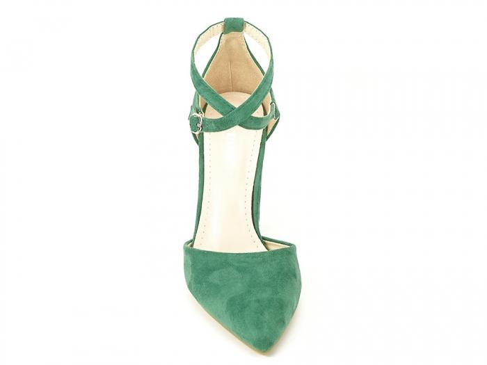 Pantofi verzi decupati Amedeia 4