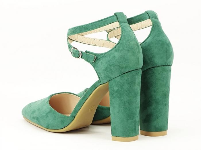 Pantofi verzi decupati Amedeia 3