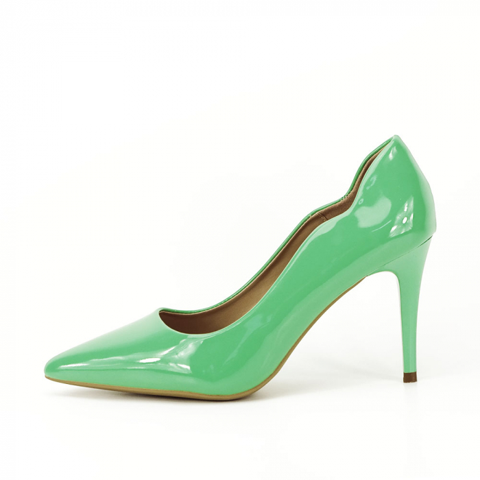 Pantofi verzi lacuiti Tiffany 0