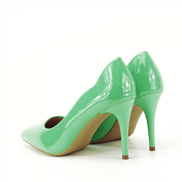 Pantofi verzi lacuiti Tiffany 5