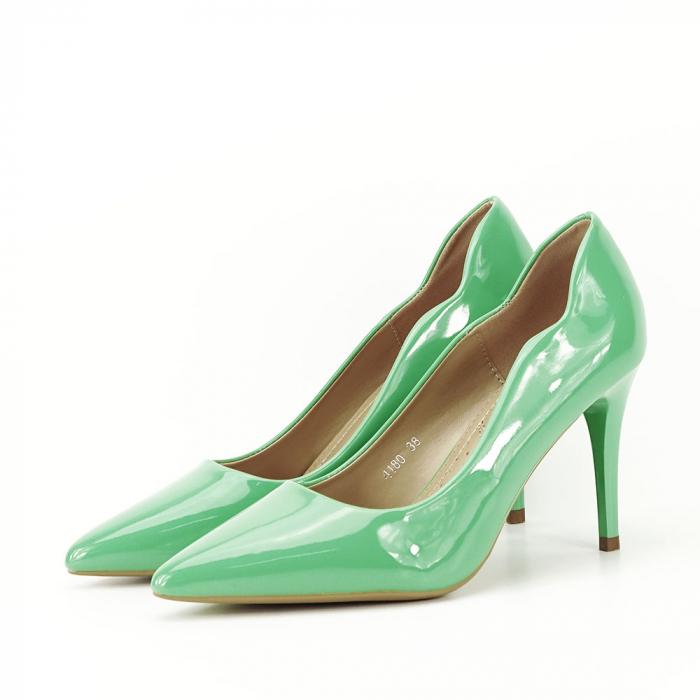 Pantofi verzi lacuiti Tiffany 1