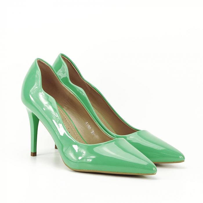 Pantofi verzi lacuiti Tiffany 6