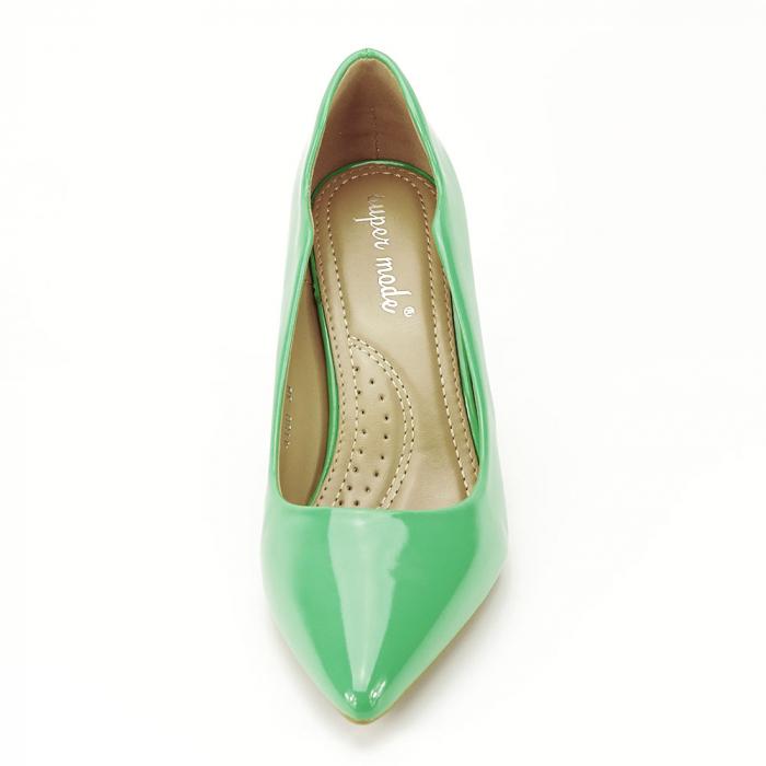 Pantofi verzi lacuiti Tiffany 2