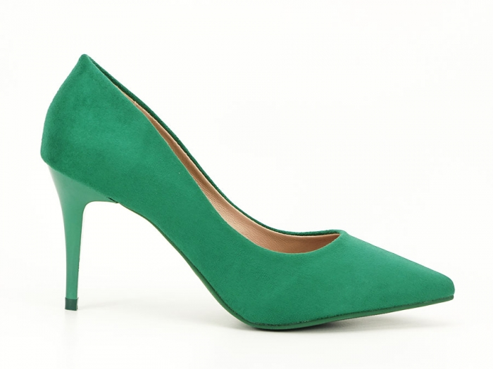 Pantofi verzi office/elegant cu toc mediu Serenity 0