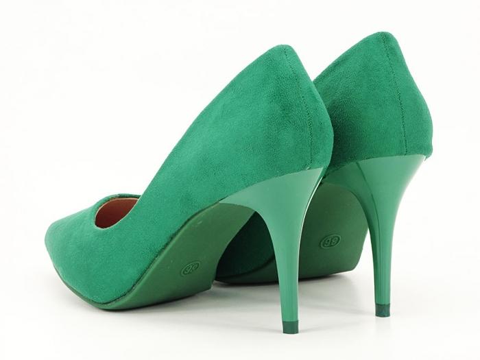 Pantofi verzi office/elegant cu toc mediu Serenity 1