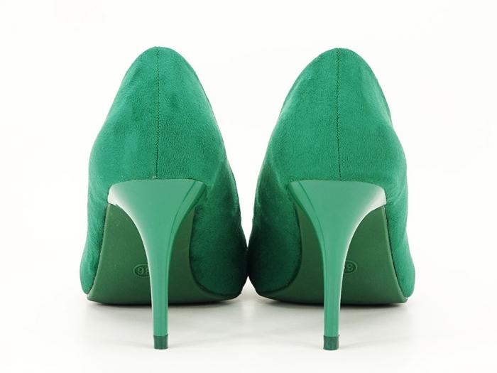 Pantofi verzi office/elegant cu toc mediu Serenity 3