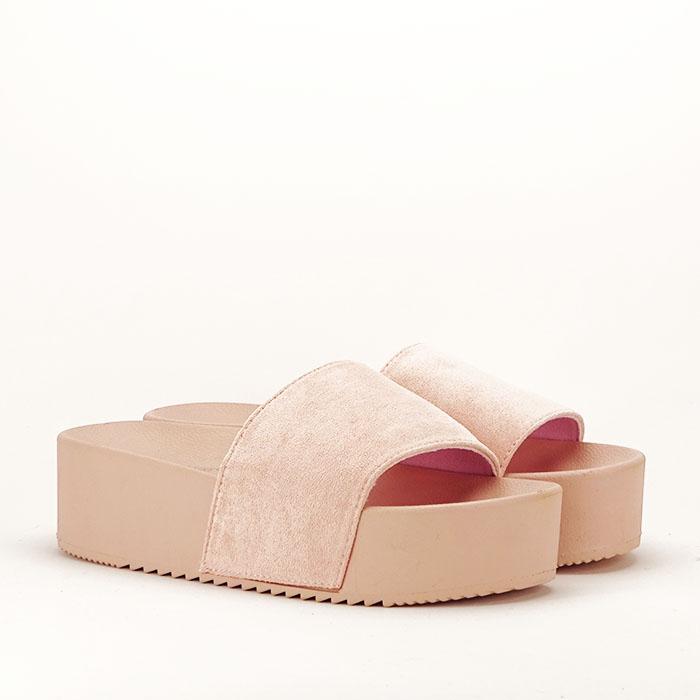 Papuci roz pal cu platforma Mery [3]