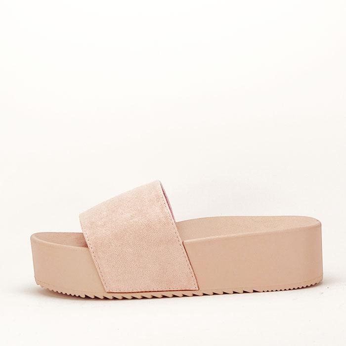 Papuci roz pal cu platforma Mery [0]