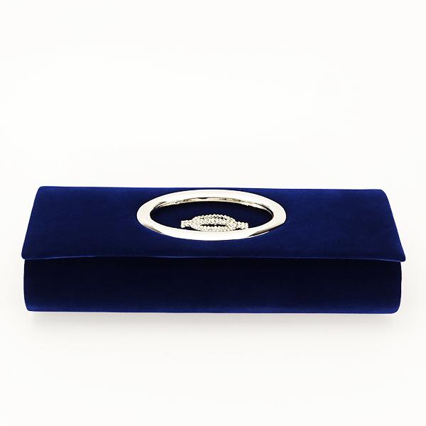 Plic albastru inchis din catifea Gloria [5]