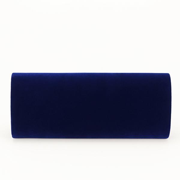 Plic albastru inchis din catifea Gloria [6]