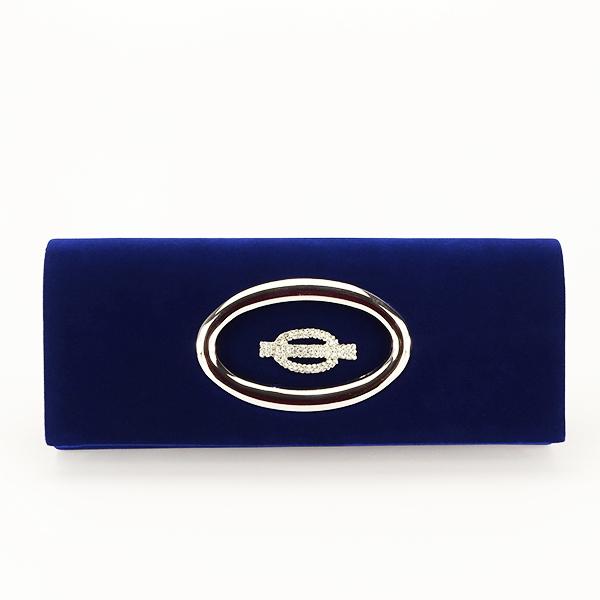 Plic albastru inchis din catifea Gloria [1]