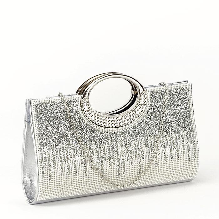Plic argintiu cu cristale Lucy [0]
