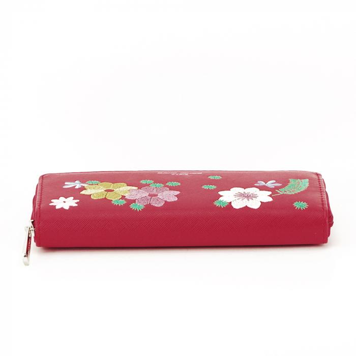 Portofel rosu cu flori Ana 5