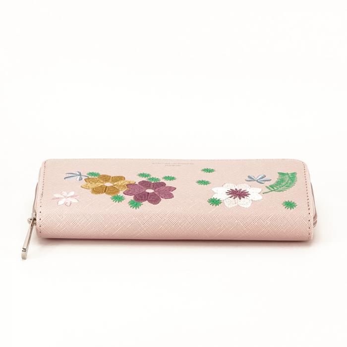 Portofel roz cu flori Ana 5