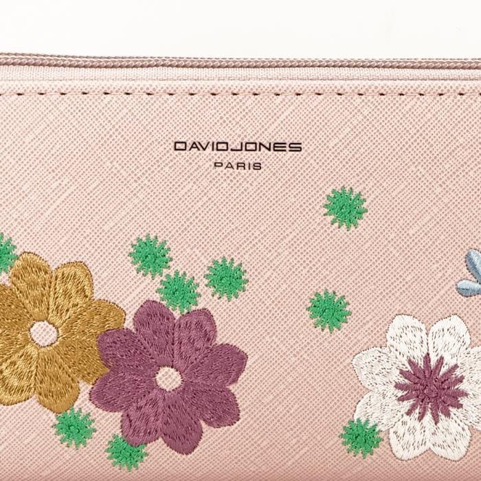 Portofel roz cu flori Ana 1