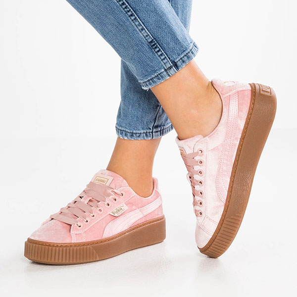 Puma pantofi sport Basket Platform VS Wns din material textil [0]