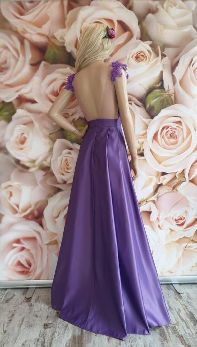 Rochie lunga eleganta lila Aris 1