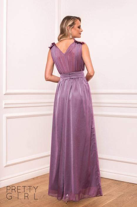 Rochie lunga lila eleganta Afrodita 1