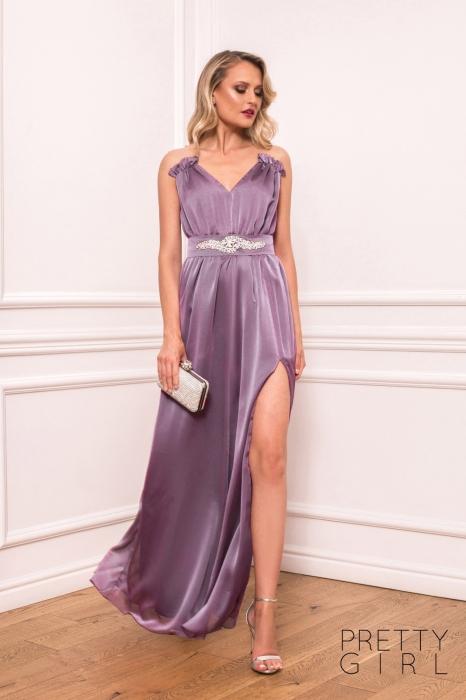 Rochie lunga lila eleganta Afrodita 0