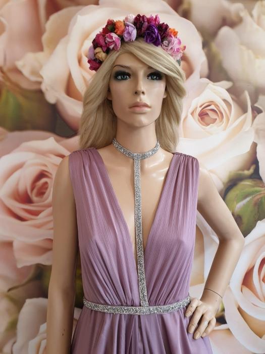 Rochie lunga eleganta lila Sensual 1