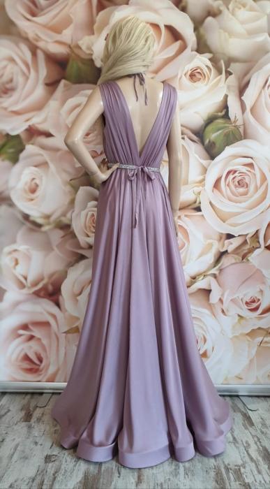Rochie lunga eleganta lila Sensual 2