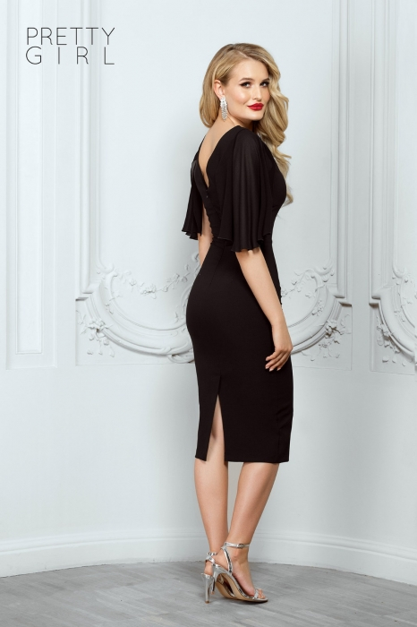 Rochie midi neagra eleganta Helene 1