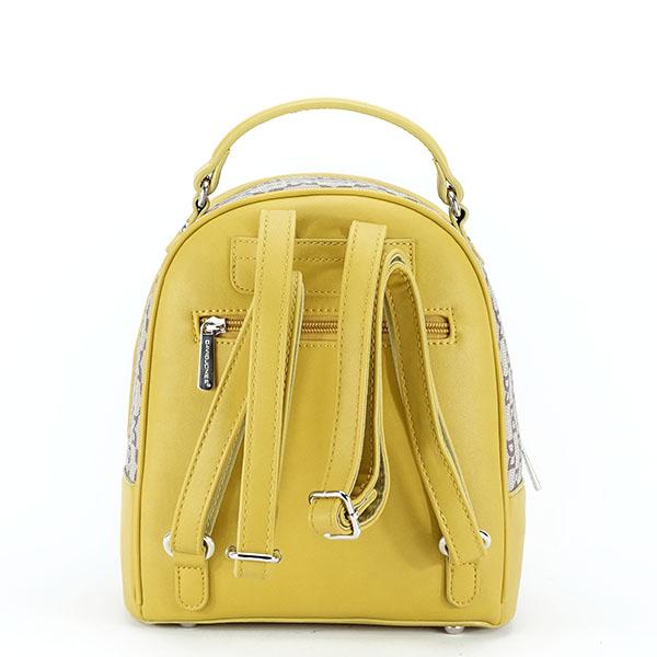 Rucsac galben cu imprimeu logo Jenny [6]