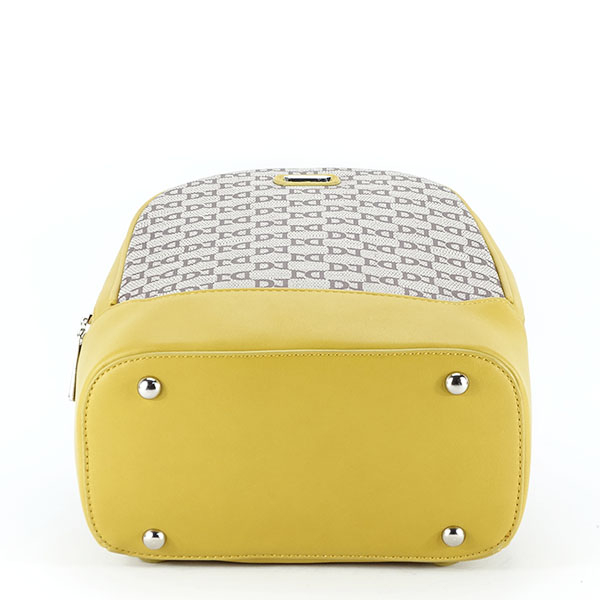 Rucsac galben cu imprimeu logo Jenny [7]