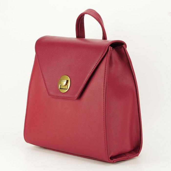 Rucsac rosu femei cu design modest Roma 1