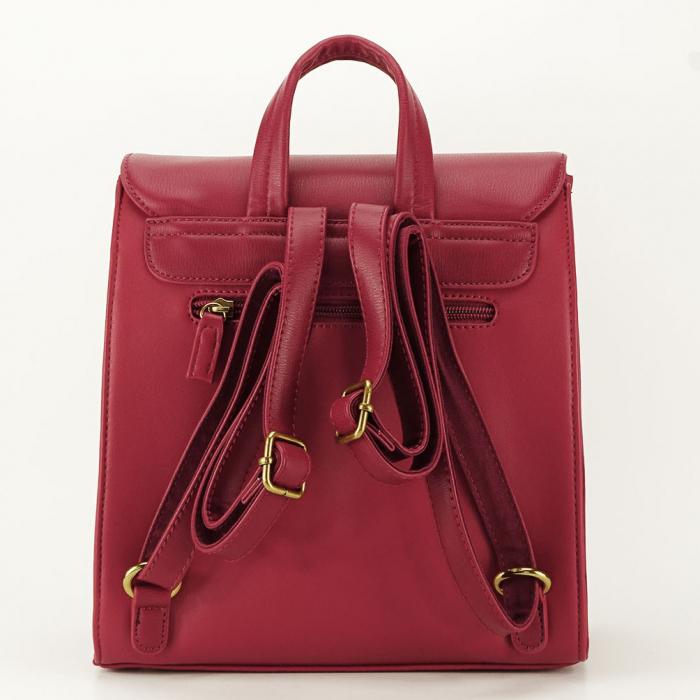 Rucsac rosu femei cu design modest Roma 3