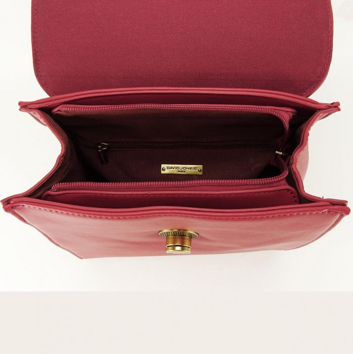 Rucsac rosu femei cu design modest Roma 4