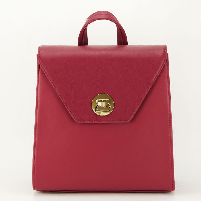 Rucsac rosu femei cu design modest Roma 0