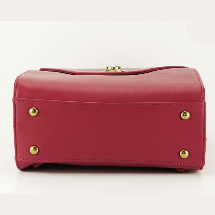 Rucsac rosu femei cu design modest Roma 5