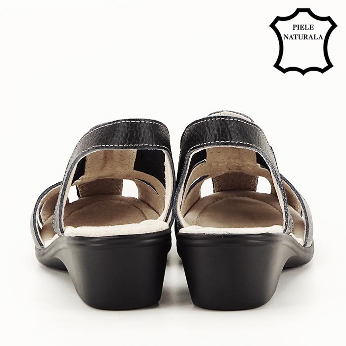 Sandale negre din piele naturala Codruta [5]