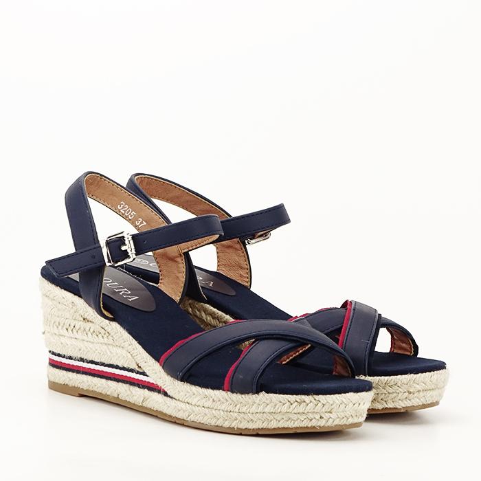 Sandale albastre cu platforma Clarissa [7]