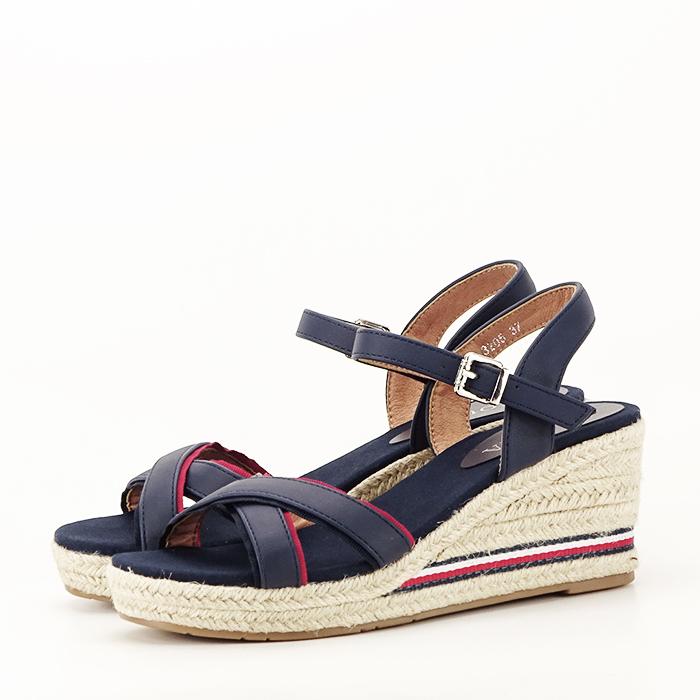Sandale albastre cu platforma Clarissa [3]