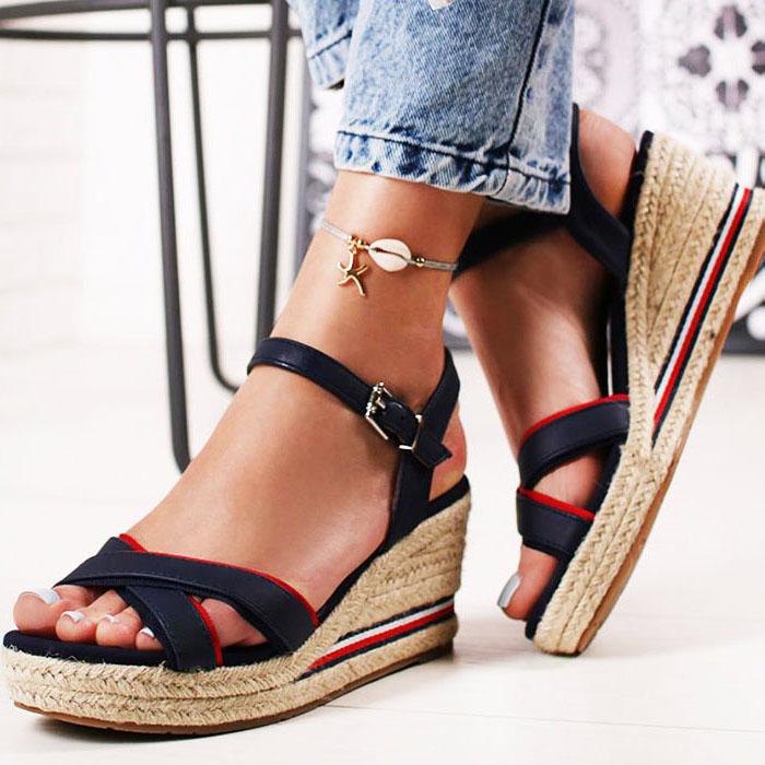 Sandale albastre cu platforma Clarissa [0]