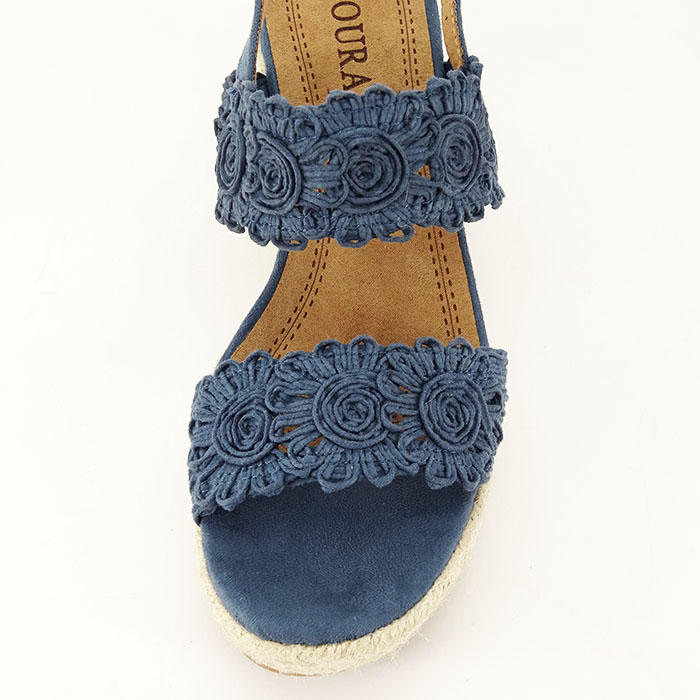 Sandale albastre cu platforma Dalia 2