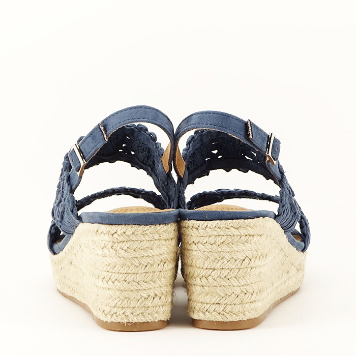 Sandale albastre cu platforma Dalia 7