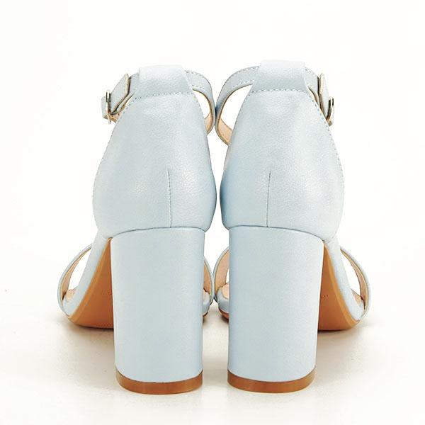 Sandale albastre cu toc gros Ingrid [5]