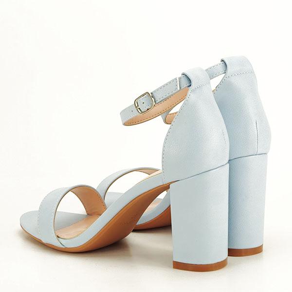 Sandale albastre cu toc gros Ingrid [3]