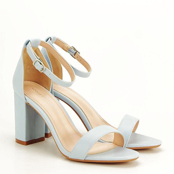 Sandale albastre cu toc gros Ingrid [2]